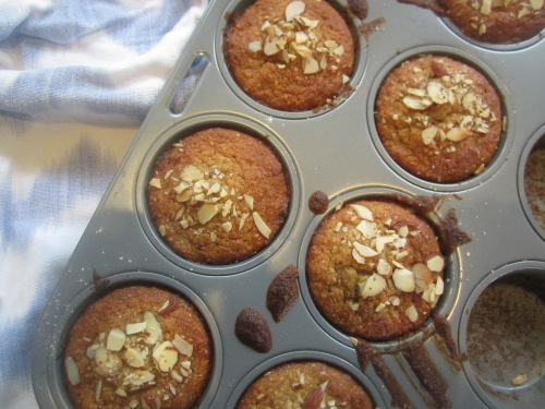 Banana & Almond muffins